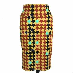 LuLaRoe Cassie Herringbone Pencil Skirt Medium